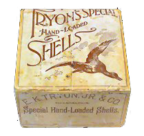 Rare E. K. Tryon Company Box Possible Fred Coleman Box Hand Loaded for Tryon Co.