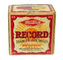 """""""Record"""" Loaded Paper Shells Western Ammunition Co."""