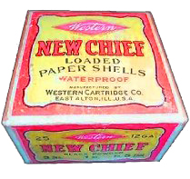 """""""New Chief"""" Paper Shells Western Ammunition Co."""